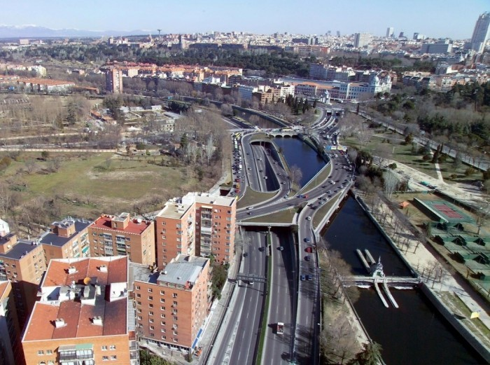 Madrid Rio: M 30 highway in 2003